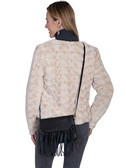 Leather Fringe Handbag