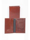 LEATHER BUSINESS CARD CASE W/ID WINDOW.  BUSINESS CARD POCKETS W/ID WINDOW.  IMPORT.