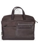 GUSSETED FRONT SECTION WITH ORGANIZING POCKETS.  CENTER ZIP MAIN COMPARTMENT INTERIOR FEATURES A PADDED LAPTOP SECTION WITH ZIP POCKET.  EXTERIOR REAR HAS A FULL ZIP POCKET WITH STRAP SUPPORT TO ATTACH TO UPRIGHT LUGGAGE.  ADJUSTABLE SHOULDER STRAP.