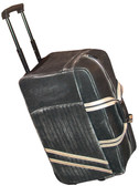 SANDED CALF WHEELED TRAVEL BAG.  TELESCOPING HANDLE WITH IN-LINE SKATE WHEELS.  DUAL CARRY HANDLES WITH A HANDLE WRAP.  TWO EXTERIOR OPEN POCKETS AND TWO INTERIOR ZIPPERED POCKETS.  IMPORT.