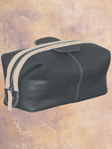 SANDED CALF SHAVE KIT.  TOP ZIPPER CLOSURE.  INSIDE ZIP POCKET AND A ROOMY INTERIOR.  IMPORT.