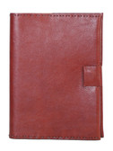 LEATHER DESK SIZE JOURNAL.  6 INCH X 8 INCH BLANK JOURNAL.  IMPORT.