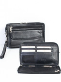 LEATHER PERSONAL CLUTCH.  FRONT FLAP POCKET FOR COINS OR KEYS.  3-WAY ZIP ORGANIZER TO HOLD YOUR ID AND CREDIT CARDS.  INTERIOR FULL ZIP POCKET TO HOLD YOUR CASH AND RECEIPTS.  SCULLY PEN IN THE LEATHER LOOP IN THE CENTER.  IMPORT.