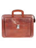 LEATHER MINI BRIEFCASE.  FRONT FLAP COMPARTMENT W/ZIP DOWN ORGANIZER.  DROP HANDLES.  FULLY LINED INTERIOR.  SINGLE GUSSET WITH ZIP-TOP.  ROOMY MAIN COMPARTMENT WITH INSIDE ZIP POCKET.  ADJUSTABLE AND REMOVABLE LEATHER SHOULDER STRAP.  IMPORT.