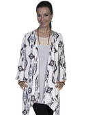 E111-IVO-LARGE SIZE  CASUAL AZTEC PRINT DUSTER.
