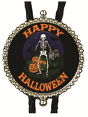 Happy Halloween Graveyard  Bolo Tie
