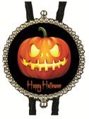 Happy Halloween Scary Pumpkin Bolo Tie