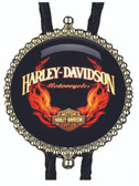 Harley Davidson on Fire Bolo Tie 3