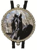 Black Stallion Horse Bolo Tie