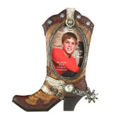 Cowboy Boot Oval 4 x 6 Picture Frame