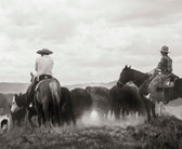 """Two Cowboys on a Cattle Drive (8 """" x 10"""")"""