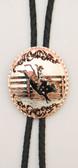 Copper Horse Head Bolo Tie Trapezoid Shape