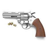 9mm Nickel Magnum Blank Firing Revolver