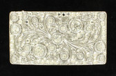 Crystals Silver Rectangle Belt Buckle