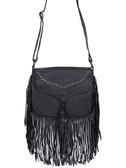 Soft Leather Fringe Handbag