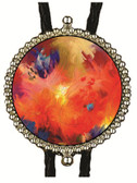 Abstract Art Image Bolo Tie (1)