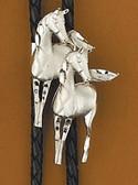 Silver Horses Bolo Tie