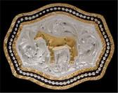 Silver Strike Horse Men's Buckle