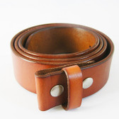 "SOLID GENUINE LEATHER BELT 1 1/2"" TAN 51863"