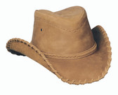 Sydney leather cowboy hat by Bullhide® Hats.  Tobacco. Available in sizes S, M, L, XL