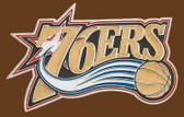 "76er's NBA Buckle  4-1/4"" x 2-3/4"""