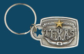 TEXAS Key Ring, Pewter