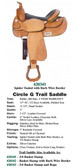 TRAIL SADDLES TRUE WESTERN STYLE 4 CHOICES MADE IN THE USA
