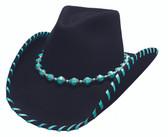 TURQUOISE LEGEND  Felt Cowboy hat by Bullhide® Hats.   Cowboy hat by Bullhide® Hats.