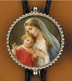Virgin Mary 2 Bolo Tie