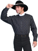 Wyatt Earp OLD WEST STYLE Shirt WHITE COLLAR AND STRIPES