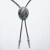 Wolf Howling Bolo Tie
