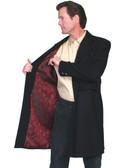 Wool Frock Coat w/ Red Satan Floral Deswign Lining  34 thru 56