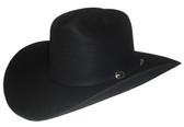 WOOL 3X BLACK FELT Cowboy Hat.