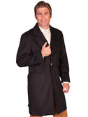 Wool Blend Frock Coat has two front flap pockets 9 Colors