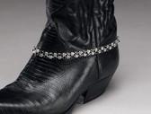 Austrian Crystal Black Boot Bracelet, Double Row