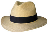 AUTHENTIC, SOFT/CRUSHABLE NATURAL PANAMA Cowboy Hat FEDORA STYLE GRADE (3-4).