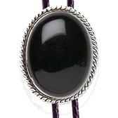 Black Onyx Rope Design Bolo Tie