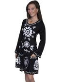 BLACK SCOOPNECK DRESS