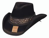 Billy The Kid Wool/Felt Hat Black
