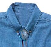 Blue Paua Shell Bolo Tie