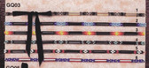 """BONED AND BEADED HAT BANDS 3/8""""  6 CHOICES GQ03"""
