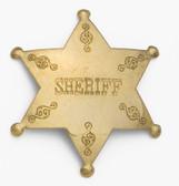 BRASS SHERIFF BADGE