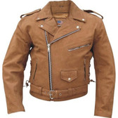 Brown Suede Bomber Moto Jacket