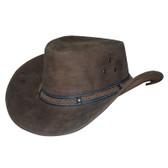 Buffalo Skin Knoted Cowboy Hat Band Leather Cowboy Hat