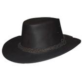 Buffalo Skin Leather Cowboy Hat