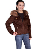 Espresso Hooded Ladies Jacket