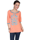 CORAL OFFSHOULDER TUNIC