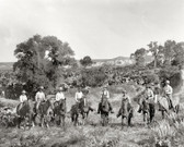 Cowboys On Cattle Drive 1879