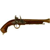18th Century Italian Flintlock Pistol - Brass
