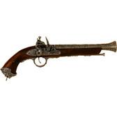 18th Century Italian Flintlock Pistol - Pewter